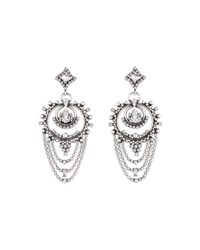 Dannijo Rosalie Crystal Statement Earrings Clear