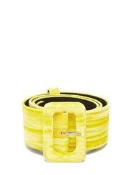 Attico Velvet Belt Yellow