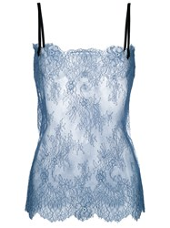 Philosophy Di Lorenzo Serafini Sheer Lace Tank Blue