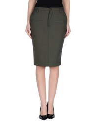 True Tradition Skirts Knee Length Skirts Women Military Green