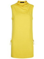 Jaeger Draped Neck Tunic Yellow