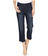 Jag Jeans Baker Pull On Crop Comfort Denim In Night Breeze Night Breeze Women's Blue