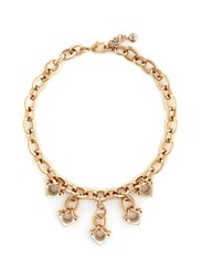 Lulu Frost 'Avron' Crystal Pave Cutout Triangle Charm Necklace Metallic