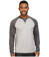 The North Face Long Sleeve Copperwood Crew Zinc Grey Heather Asphalt Grey Heather Men's Clothing White