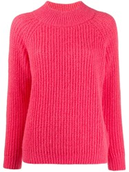 Peserico Funnel Neck Ribbed Knit Sweater 60