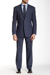 Hart Schaffner Marx Two Piece Notch Lapel Two Button Suit Gray