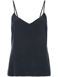 L'agence Basic Silk Top Blue
