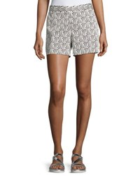 Cynthia Steffe Stream Check Printed Shorts Black