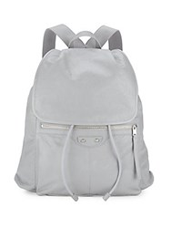 Balenciaga Solid Leather Backpack White