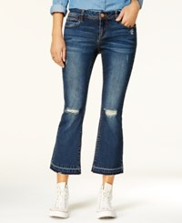 Dollhouse Juniors' Ripped Cropped Jeans Beckham