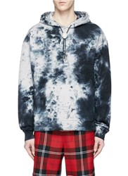 Alexander Wang 'Classic Black' Embroidered Tie Dye Hoodie Multi Colour