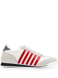 Dsquared2 Low Top Stripe Sneakers White