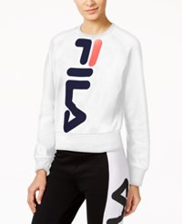 Fila Kristy Cropped Sweatshirt White