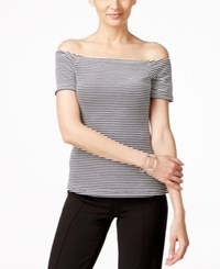 Eci Off Shoulder Striped Top