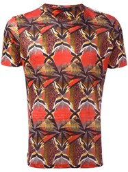 Etro Graphic Print T Shirt Red