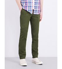 Tommy Hilfiger Straight Fit Mid Rise Twill Chinos Rifle Green