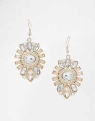 Lipsy Deco Crystal Drop Earring Gold