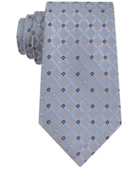 Club Room Men's Grid Neat Tie Only At Macy's Gray