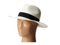 Hat Attack Panama Continental Bleach Black Classic Ribbon Traditional Hats White