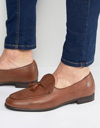 New Look Loafers With Tassels In Tan Tan