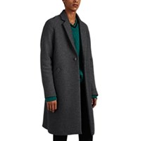 Martin Grant Virgin Wool Overcoat Gray