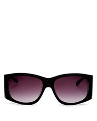 Moschino Rectangle Sunglasses 58Mm Black Smoke Lens Gradient