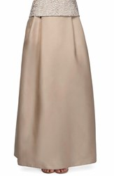 Alex Evenings Women's Organza Ball Skirt Beige