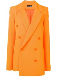 House Of Holland Double Breasted Fitted Coat Orange