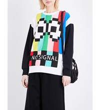 Mini Cream No Signal Jersey Sweatshirt Multi