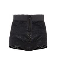 Dolce And Gabbana Lace Up Shorts Black