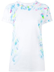 Forte Couture Printed T Shirt Women Cotton S White