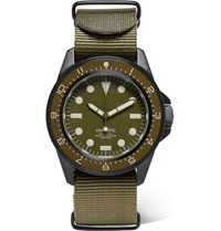Unimatic U1 Dzn Automatic Brushed Stainless Steel And Webbing Watch Green
