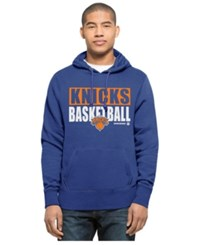 47 Brand '47 Men's New York Knicks Knockaround Headline Pullover Hoodie Royalblue
