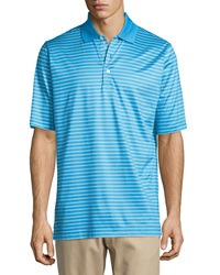 Bobby Jones Palmer Striped Jersey Polo Shirt Cerulean