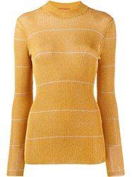 Missoni Delicate Stripe Jumper Yellow