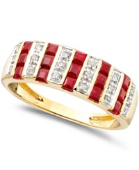 Macy's Gemstone 9 10 Ct. T.W. And Diamond 1 10 Ct. T.W. Ring In 14K Gold Or White Gold Ruby