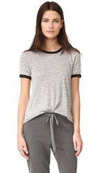 Wilt Raw Easy Color Contrast Tee Grey Heather Black