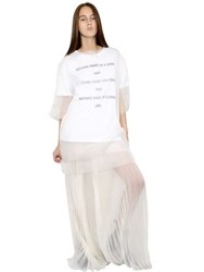 Yang Li Oversized Sheer Silk Organza Top