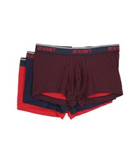 2Xist Stretch 3 Pack No Show Trunk Polka Dot Navy Blazer Scotts Red Men's Underwear