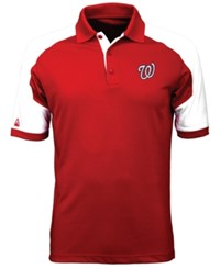 Antigua Men's Washington Nationals Century Polo Red White