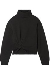 Alexander Wang T By Twist Front Wool Turtleneck Sweater Black