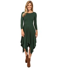 Mod O Doc Cotton Modal Spandex Jersey Hanky Hem Dress Cypress Women's Dress Green
