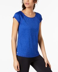 Ideology Strappy Back T Shirt Bright Blue