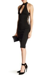 Wow Couture Keyhole Halter Dress Black