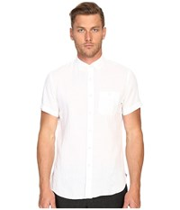 Todd Snyder Short Sleeve Classic Linen Plainweave Button Up White Men's Short Sleeve Button Up