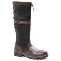 Dubarry Glanmire Lace Long Boots Black Brown