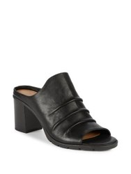 The Flexx Aim To Pleat Leather Mules Black