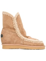 Mou 'Eskimo' Inner Wedge Boots Brown