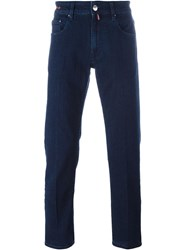 Pt05 Dark Wash Straight Jeans Blue