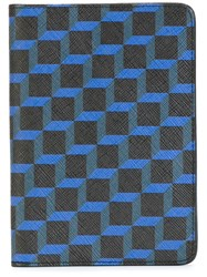 Pierre Hardy Geometric Print Wallet Blue